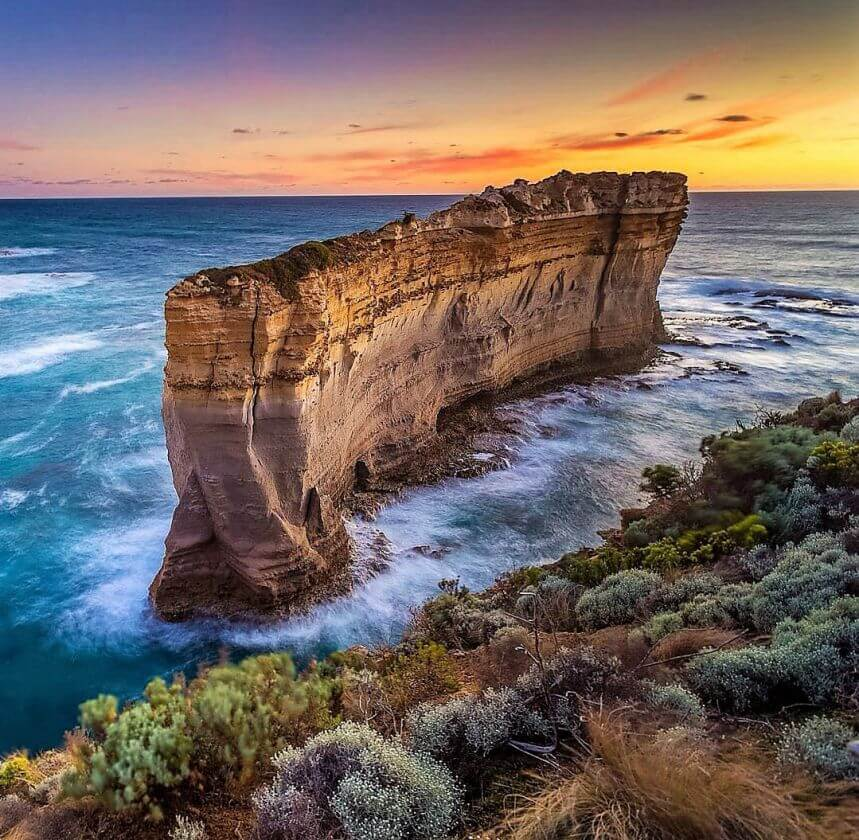 Sunset at the Razorback-Great Ocean Road, Victoria (Photo jl_captures)